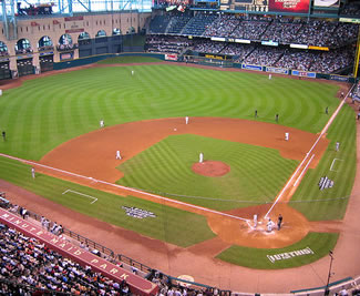 View of Minute Maid Park